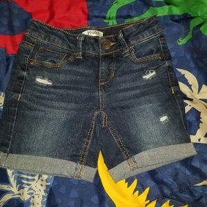 Girls dark blue Jean shorts